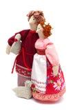 Paare der Landarbeiter im traditionellen Kleid Lizenzfreies Stockbild