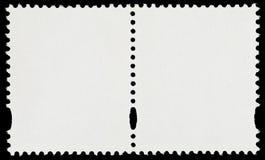 Paare der leeren Briefmarken Stockfoto