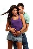 Paare in der Liebe über weißem Hintergrund Lizenzfreies Stockbild