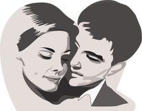 Paare in der Liebe lieb Lizenzfreies Stockbild