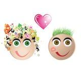 Paare in der Liebe, Valentinsgrußkarte Lizenzfreie Stockfotos