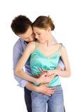 Paare in der Liebes-Liebkosung stockfotografie