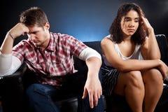 Paare in der Mühe Lizenzfreie Stockfotografie