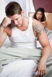 Paare in der Mühe Stockfoto