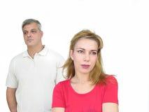 Paare in der Mühe Stockfotos