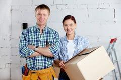Paare der neuen Siedleren Stockbild