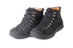 Paare der schwarzen Schuhe Stockfotos
