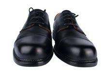 Paare der schwarzen Schuhe des Mannes stockfoto