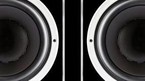 Paare der schwarzen soliden Sprechermembran stockbild