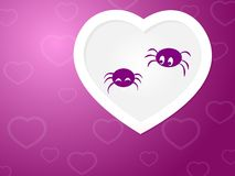 Paare der Spinnen in der Liebe Stockfotos