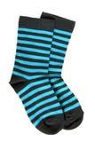 Paare der striped Socken des Kindes Lizenzfreies Stockfoto