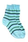 Paare der striped Socken des Kindes Lizenzfreie Stockbilder
