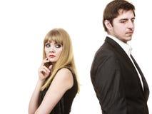 Paare in der Trennung nach argumentieren Stockfoto