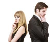 Paare in der Trennung nach argumentieren Lizenzfreie Stockbilder