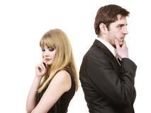 Paare in der Trennung nach argumentieren Stockfotografie