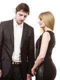 Paare in der Trennung nach argumentieren Stockbilder