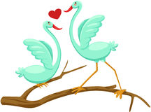 Paare der Vögel Stockbild