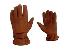 Paare der weichen ledernen Handschuhe Stockbilder