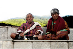Paare des hohen Alters von Bhutan, Bhutan Stockfotografie
