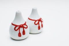 Paare des kleinen chinesischen Vase getrennt Lizenzfreie Stockbilder