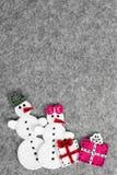 Paare des Schneemannes Lizenzfreies Stockbild