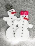 Paare des Schneemannes Stockbilder