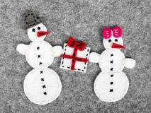 Paare des Schneemannes Lizenzfreie Stockbilder