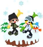 Paare des Skigebiets Stockfoto