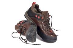 Paare des Wanderns der Schuhe Lizenzfreie Stockfotografie