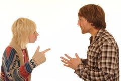 Paare, die Argument haben Stockfoto