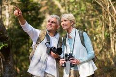 Paare, die draußen wandern Lizenzfreie Stockbilder