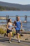 Paare, die durch See rütteln Stockfotografie