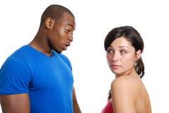 Paare, die ein Argument haben Lizenzfreies Stockbild