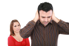 Paare, die ein Argument haben Lizenzfreie Stockfotos