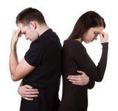 Paare, die ein Argument haben Lizenzfreie Stockbilder