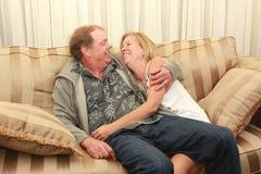 Paare, die einander betrachten Stockbilder