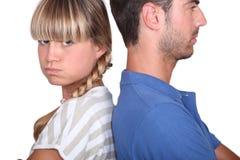 Paare, die einen Widerspruch haben Lizenzfreie Stockfotos