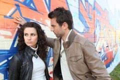 Paare, die einen Widerspruch haben Lizenzfreie Stockbilder