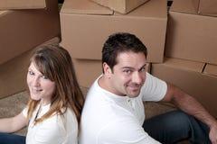Paare, die einziehen lizenzfreies stockbild