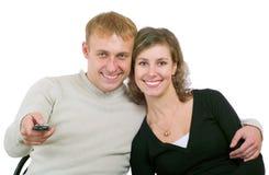Paare, die Fernsehen Lizenzfreie Stockfotografie