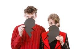 Paare, die ihre Gesichter verstecken Lizenzfreies Stockbild