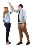 Paare, die ihren Erfolg feiern Lizenzfreies Stockfoto