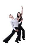 Paare, die Lied durchführen Stockfoto