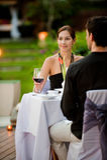 Paare, die Mahlzeit haben Stockbild