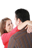 Paare, die mit Liebe umfassen lizenzfreies stockfoto