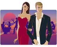 Paare, die nach Hause von der Party gehen Lizenzfreies Stockbild