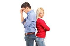 Paare, die nachher ein Argument haben Lizenzfreies Stockfoto