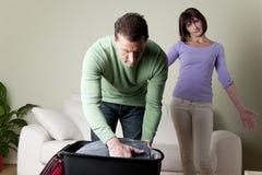 Paare, die Probleme haben lizenzfreie stockfotografie