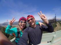 Paare, die Selbstporträt nehmen Lizenzfreies Stockfoto