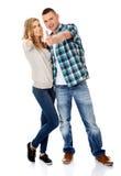 Paare, die sich Daumen zeigen Stockbilder